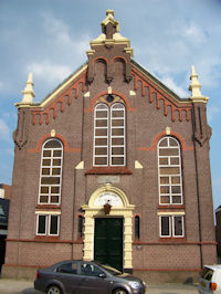 De voormalige synagoge aan de Groningerstraat in Assen