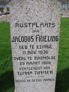 Graf Jacobus Frieling, uit de collectie van Graftombe.nl