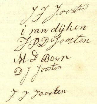1863 Handtekeningen Joosten