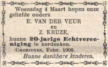 Twintigjarig huwelijk Enoch van der Veur