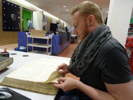 Vincent Rutjes in het Nijmeegs archief